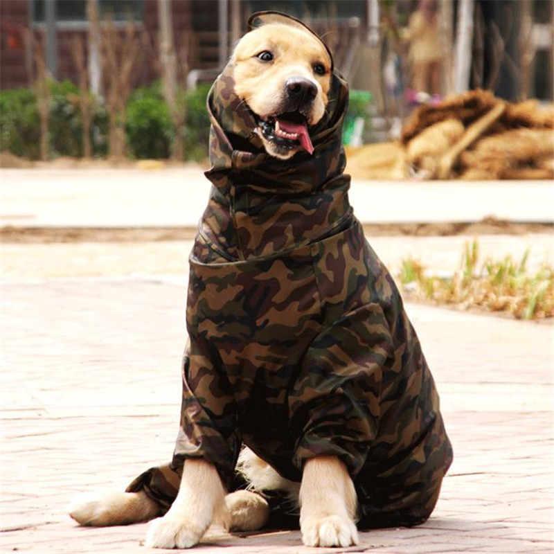 Thú Cưng Chó Lớn Áo Mưa Quần Áo Cho Chó Retriever Labrador Pháp Bulldog Chống Nước Mưa Phối Quần Áo Áo Mưa Bộ Trang Phục