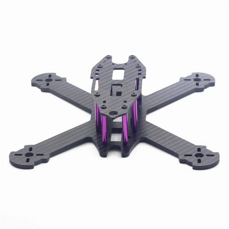 HSKRC TWE210 210mm Empattement 4mm Bras 3 K En Fiber De Carbone X Type FPV Racing Cadre Kit pour RC Drone Multicopter DIY Moteur De Rechange pièces