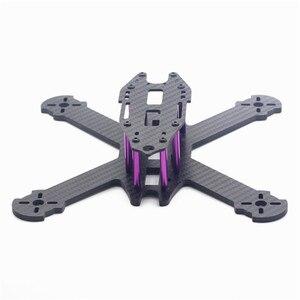 Image 1 - HSKRC TWE210 210mm dingil mesafesi 4mm kol 3K karbon Fiber X tipi FPV yarış çerçeve kiti RC Drone için multicopter DIY Motor yedek parçaları