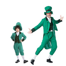 ba12ee289cdb7 Adulte enfant drôle St Patrick s Day chanceux irlandais Leprechaun vêtements  Halloween Cosplay Costume tenue(China