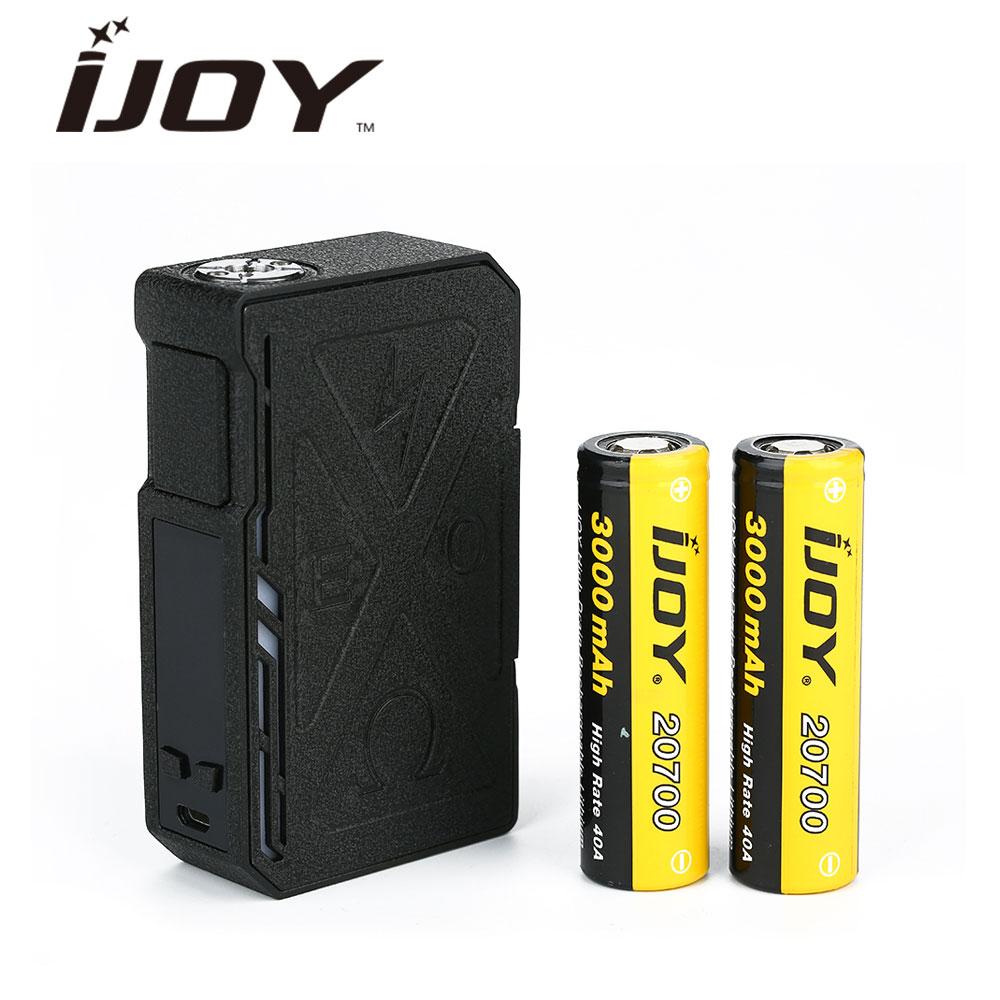 New 6000mAh Original IJOY EXO PD270 207W 20700 TC Box MOD with RGB Backlight & Unique Wrinkle Finish & 2pcs 3000mAh 20700 Cells original ijoy exo pd270 207w 20700 tc box mod max 207w output huge power no 18650 20700 battery vape box mod vs captain pd1865