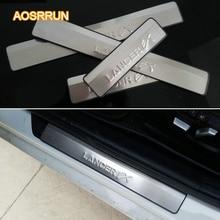 Aosrrun Нержавеющаясталь Накладка на порог автомобиля Интимные аксессуары для Mitsubishi Lancer 2007-настоящее cy2a-cz4a 4 шт. 1 компл. автомобиля охватывает