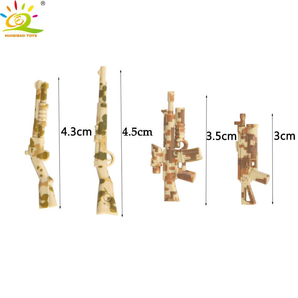 4pcs/set Mini Army weapon Gun Building blocks Compatible Military soldier Bricks Educational toys for children