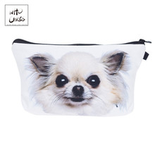Who Cares, чихуахуа, собака, 3D печать, сумки для макияжа, косметички для путешествий, дамская сумка, женская косметичка