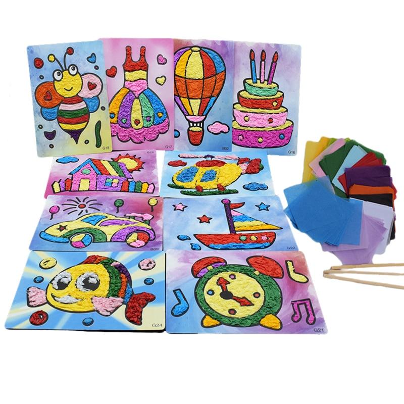 8 Design Diy Crafts Kids Kindergarten Handicraft Material Baby Toys For Children Felt Paper Arts And Craft For Boy Girl 2018 New
