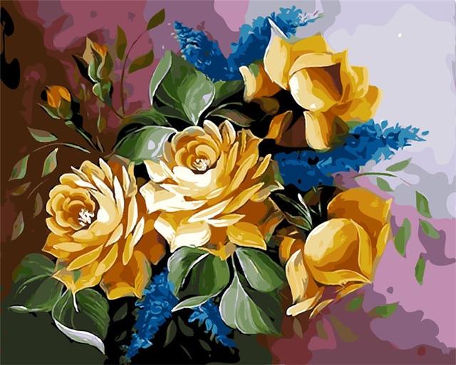Magnifique Chinois Rose Peinture A L Huile Photos Par Numeros