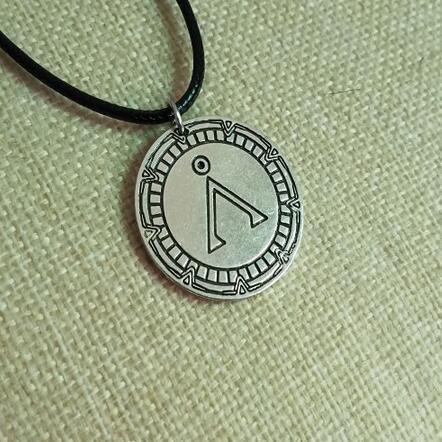 Takı ve Aksesuarları'ten Sallantılı kolye'de Lanseis20pcs argentium gümüş kolye seti tek temizle kübik zirkonya. Stargate Toprak. Kalaylı c Bilgelik Kurt Kolye Kolye'da  Grup 1