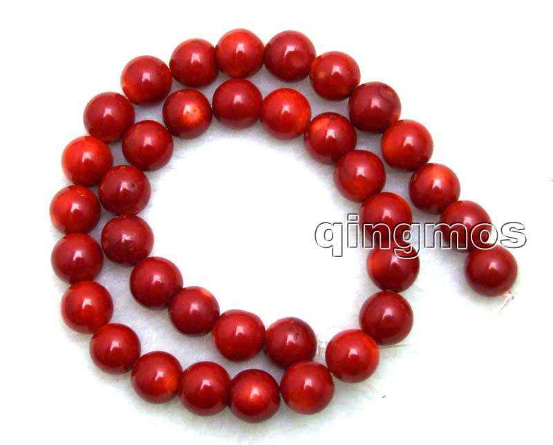 Big 12 13mm round High quality Red natural Coral loose beads strand 15 los639 wholesale retail