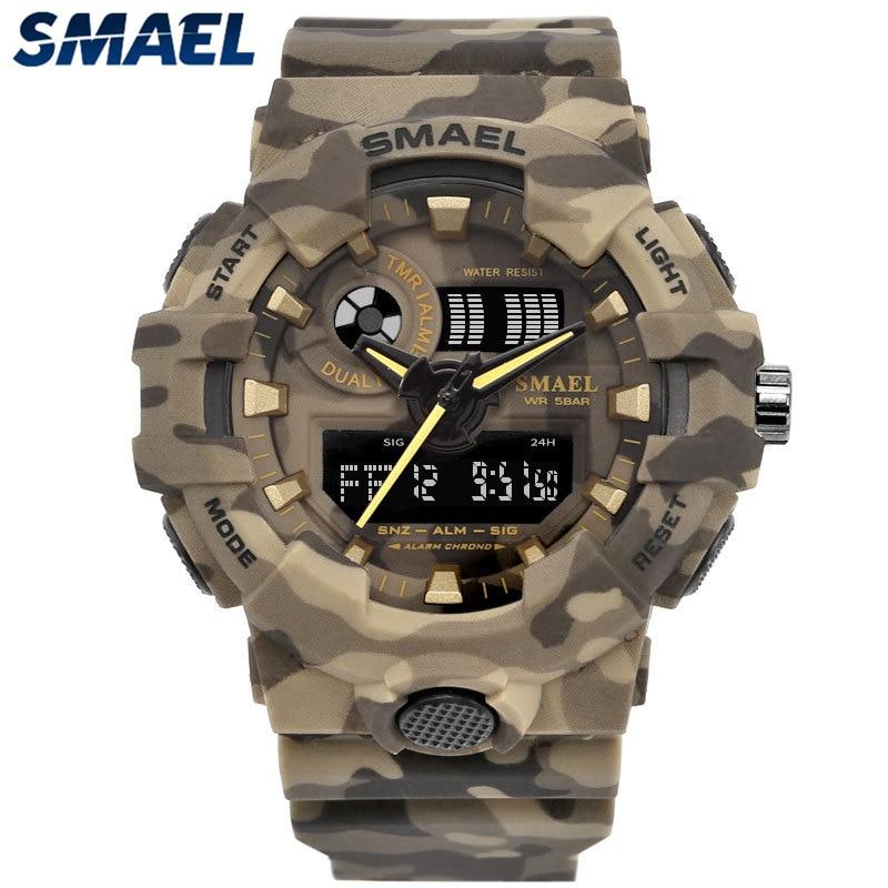 2019 Neue Luxus Männer Analog Digital Military Sport Led Wasserdichte Armbanduhr # Ne1210 Herrenuhren Digitale Uhren