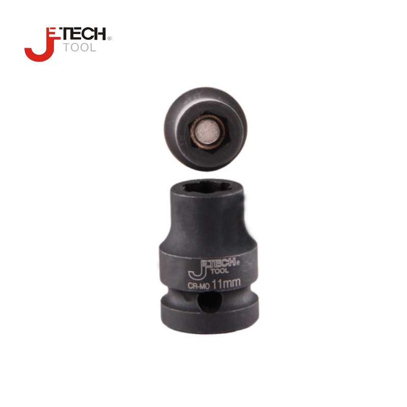 Jetech 1/4 1/4 inch dr. drive Cr-Mo magnetic socket impact size 4mm 4.5mm 5mm 5.5mm 6mm 7mm 8mm 9mm 10mm 11mm 12mm 13mm 14mm 1 4