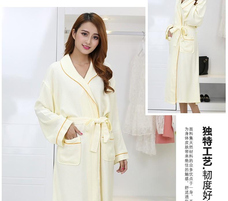 Bamboo Fiber women bathrobe men nightgown sleepwear plus size ... 403e5af01