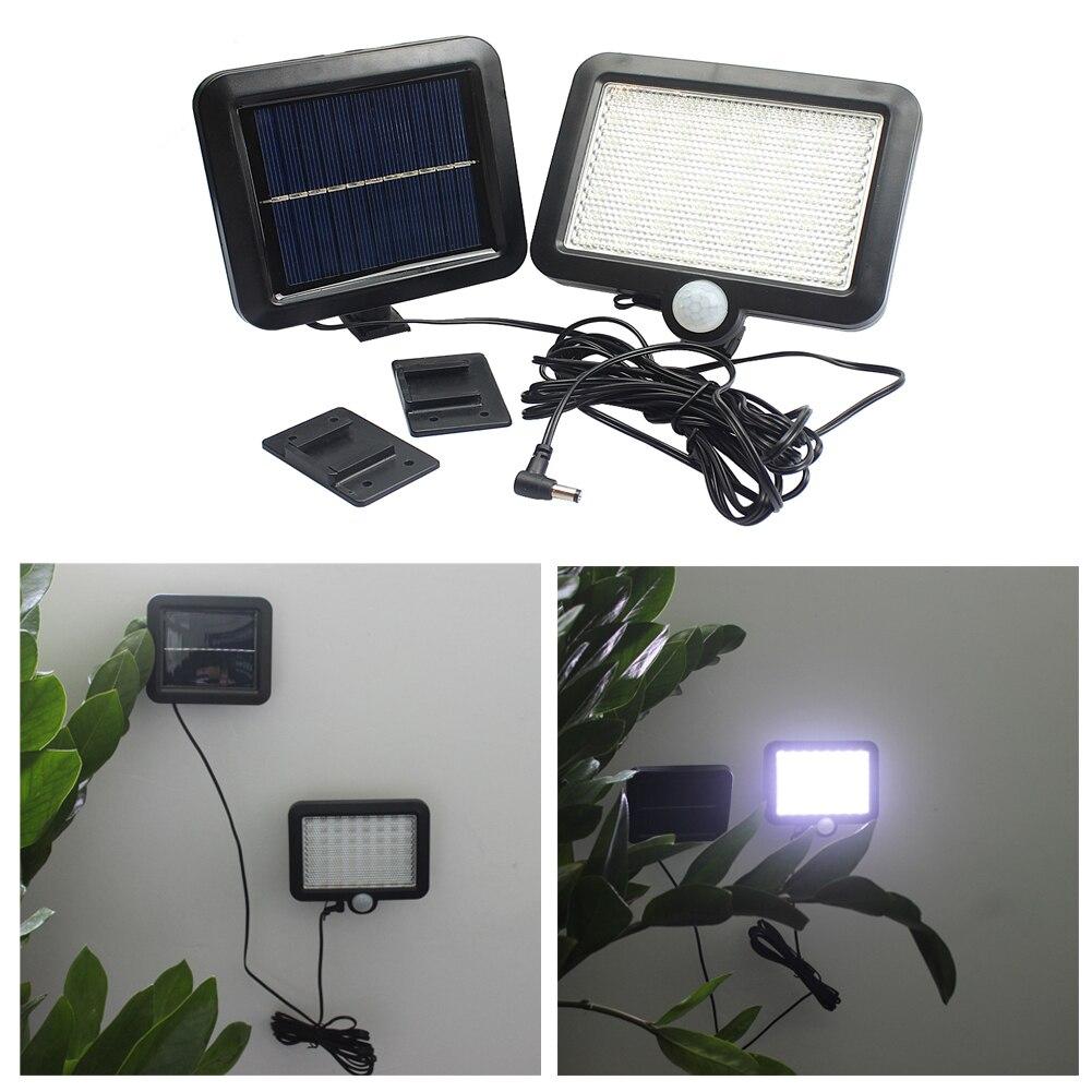 56 LEDs luz Solar exterior LED luces de jardín con energía Solar PIR Sensor de movimiento Solar focos bombillas de lámpara