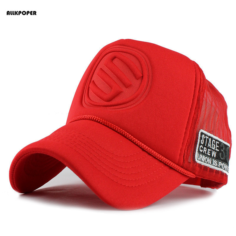 ALLKPOPER Summer Male And Female Trucker Hats Fitted Casual Hip-hop Street Mesh Hat Casquette Cap Unisex Print Baseball Caps cntang summer trucker hat women men mesh baseball cap fashion hip hop print coconut tree caps snapback casual sun hats unisex