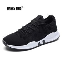 NANCY TINO Hardloopschoenen voor heren Athletic Training Oefening Veterschoenen voor sportschoenen Ademend Mesh Buiten Zachte comfortabele sportschoenen