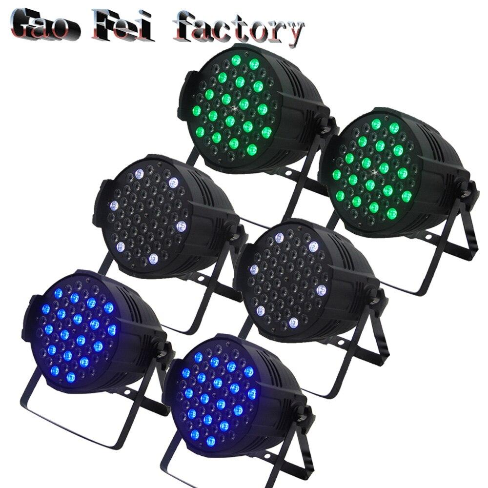 6pcs/lot 54*3W waterproof LED Par Light DMX 512 Control,7 Channels Disco DJ Equipment
