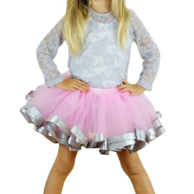 a80914f711 Crianças Do Bebê Da Menina Saia Princesa Partido Saia de Tule Fita Da Criança  Ballet Tutu