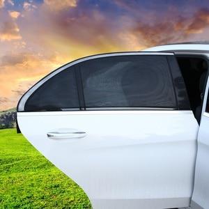 Image 2 - 2Pcs 110*50CM Window Sun Shade Black Mesh Cover Child UV Protector Shield For Most Car Auto Car Side Rear Window Sun Shade