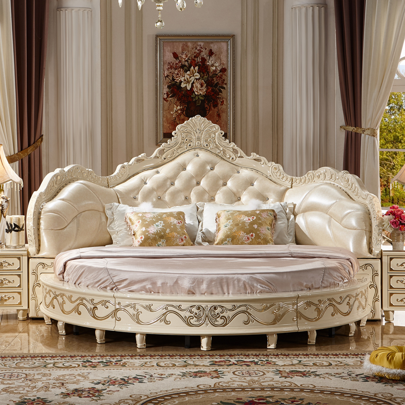 In The Bedroom Or The Couch.Us 2799 0 Latest Design Luxury Honey Moon Wedding Bed Leather Round Bed In Bedroom Sets From Furniture On Aliexpress
