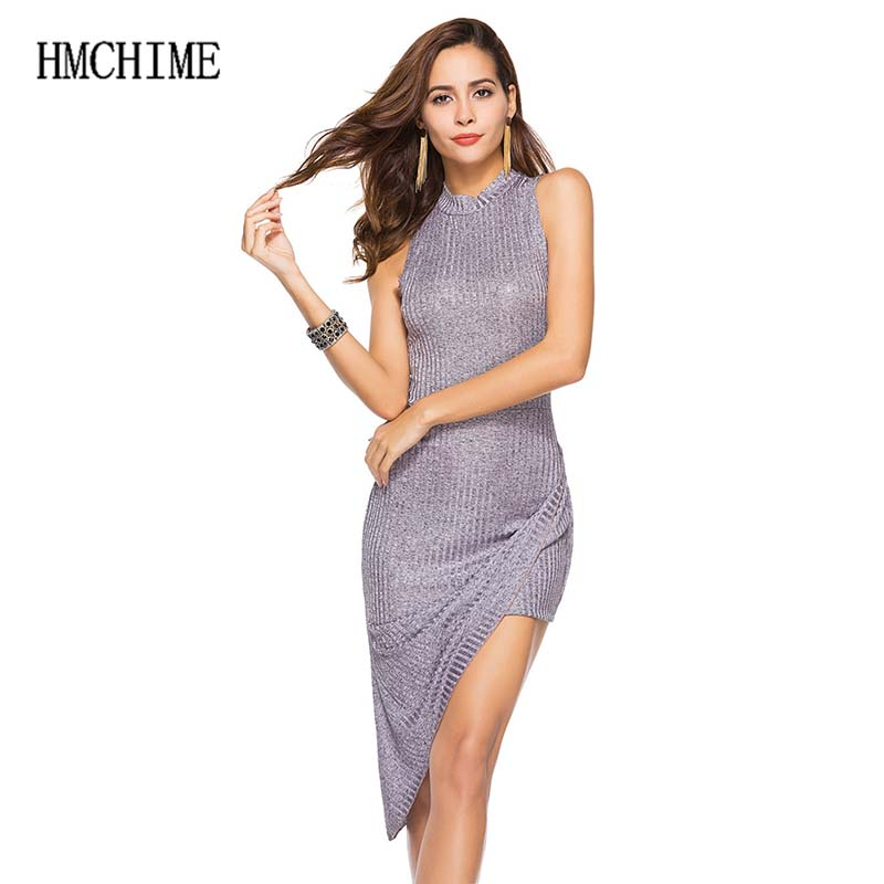 Fashion sexy women knitted dress European trend turtleneck sleeveless package hip pure color elastic ladies dress ZB-A157
