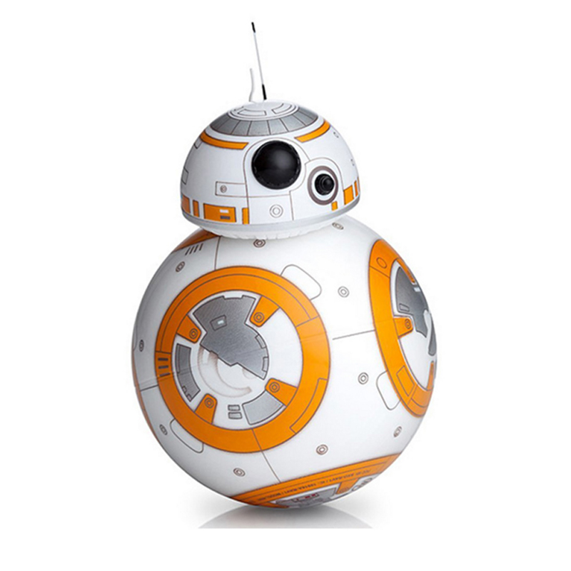 17cm Star Wars RC 2.4G BB-8 Robot upgrade remote control BB8 robot intelligent with sound RC Ball kid gift boy toy free shipping star war bb 8 rc robot remote control bb8 action figure monster sex roll run ball toy sound light intelligent best gift for kid