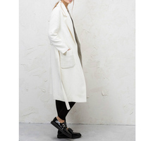 ZADORIN Women Coats And Jackets Winter 2019 Vintage Elegant Lapel Long Sleeve Casual Office White Wool Coat Runway Long Overcoat