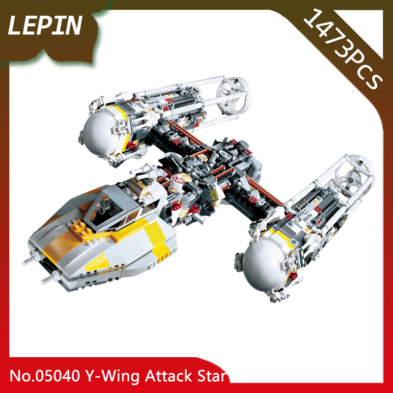 Lepin 05040 The Y Set Wing Attack Star Model fighter Star Series War 1473pcs Building Blocks Assembled bricks Toys Compatible lepin 05040 y attack starfighter wing building block assembled brick star series war toys compatible with 10134 educational gift