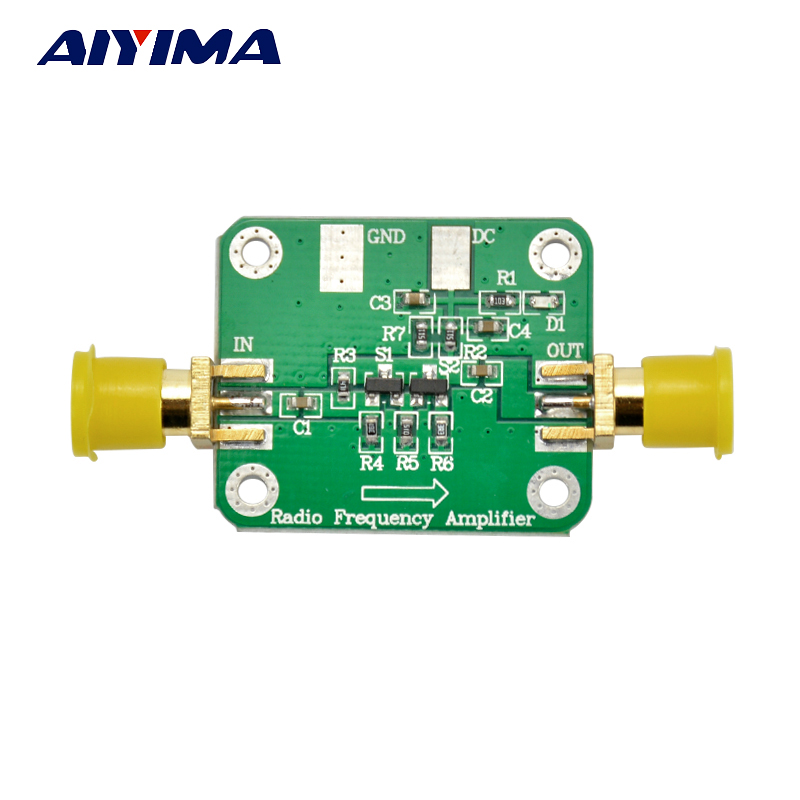Aiyima DC 12V 10KHz-1GHz 10dBm RF Broadband Low Noise Amplifier LNA Module HF VHF UHF as15 hf qfp 48