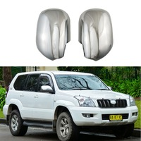 ABS Chrome plated door Rearview door mirror covers For Toyota 4RUNNER Land Cruiser Prado FJ120 2002-2009 Hiace 2016