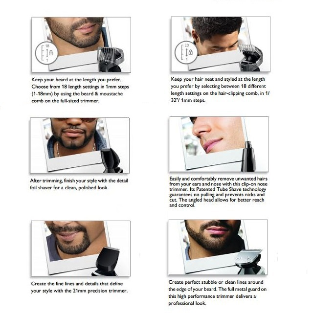 Image 5 - 7in1 washable electric hair trimmer beard trimer hair clipper stubble shaver mustache shaper hair cutting machine haircut-in Hair Trimmers from Home Appliances