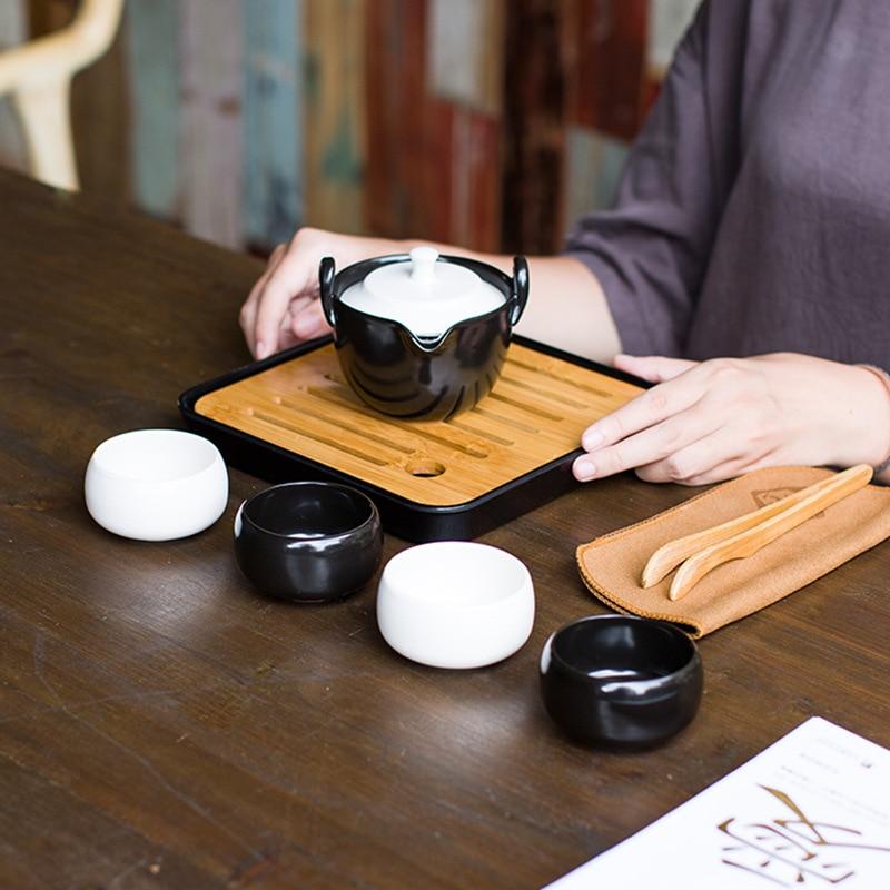 Ensemble de thé chinois Portable théière Kung Fu infuseur de thé voyage théière de voyage ensemble de thé chinois