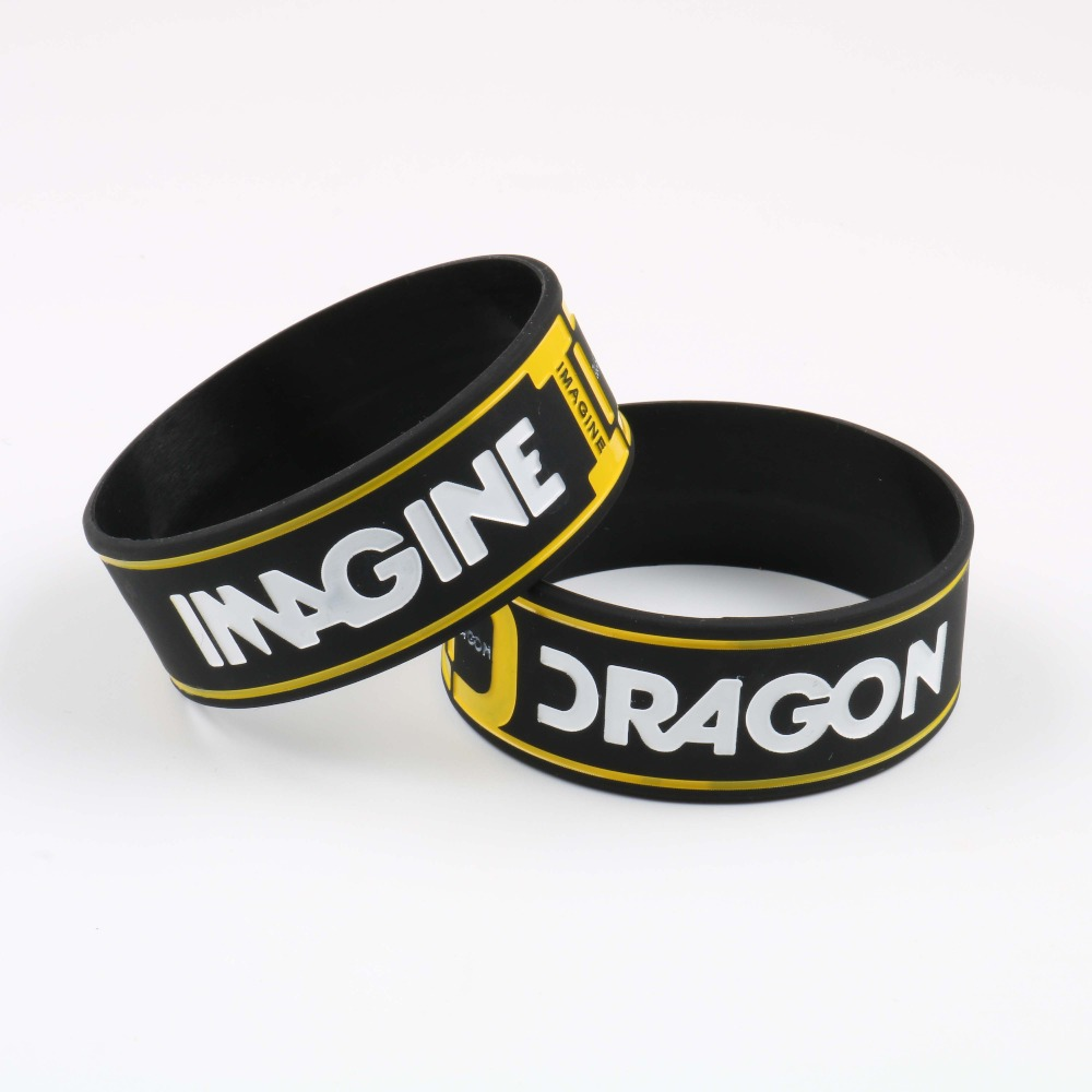 Imagine Dragon Silicone Bracelets American Rock Band High Quality Silicone Wristband New Style Rock Music Trendy pulsera