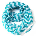 2017 New Fashion Geometric Stripe Ring Shawl Winter Chevron Zig Zag Infinity Scarves Women Soft Solid Plaid Print Loop Scarf
