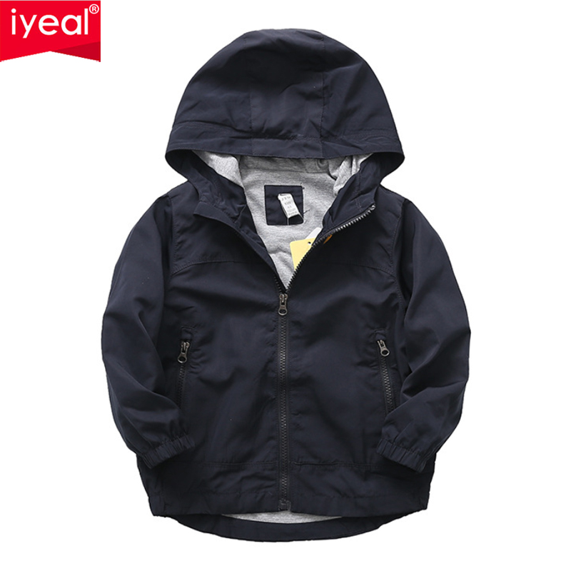 Iyeal Children Outerwear Cotton Coats Kids Clothes Sport Coat Waterproof Windbreaker For Boys Girls Jackets Teenager Tops 3-12y Outerwear & Coats Mother & Kids