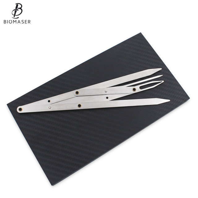 Biomaser Eyebrow Tattoo Ruler Golden Ratio Permanent Grooming Stencil Shaper Symmetrical Tool Stainess Steel 3