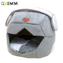 New Cat Winter House Comfortable Space Cap Shape Puppy Bed  Cotton Kitten Cave Soft Pet Nest Kennel For cat