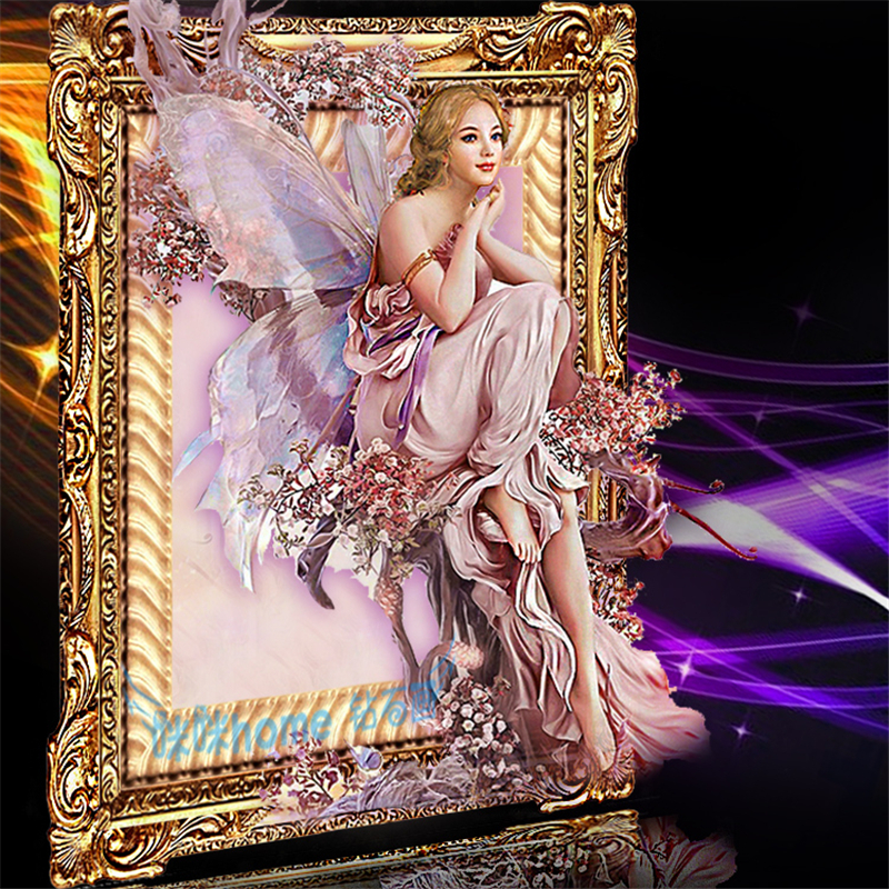 Haute qualité pleine carré diamant peinture point de croix kits papillon fée 5d bricolage perceuse mosaïque murale mariage décoration cadeau
