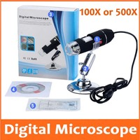 500X 1000X LED Electronic Magnifying Glass Pocket USB Digital Microscope with Light for Beauty Salon Skin Detection Phone Repair
