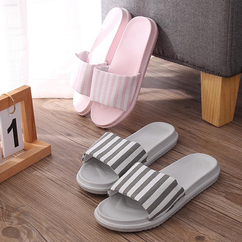 Women Slippers Summer Beach Slides Home Slippers Platform Sandals Women Shoes Stripe Flip Flops Zapatillas Mujer