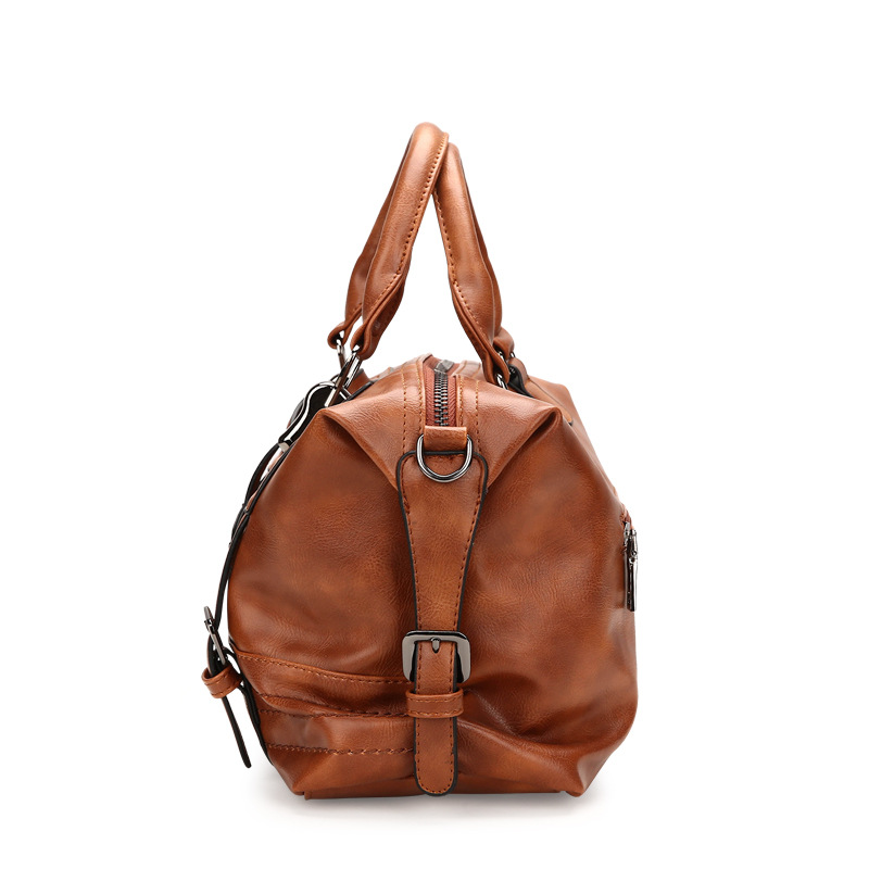 Women Bag Vintage Soft Hand Boston Bag Handbag Purses Cross Body Bags PU Leather Bags Handbags Women Famous Brands in Top Handle Bags from Luggage Bags