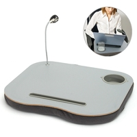 New Portable Laptop Desk Bed Laptop Cushion Knee Lap Computer Reading Table Tray Cup Holder New