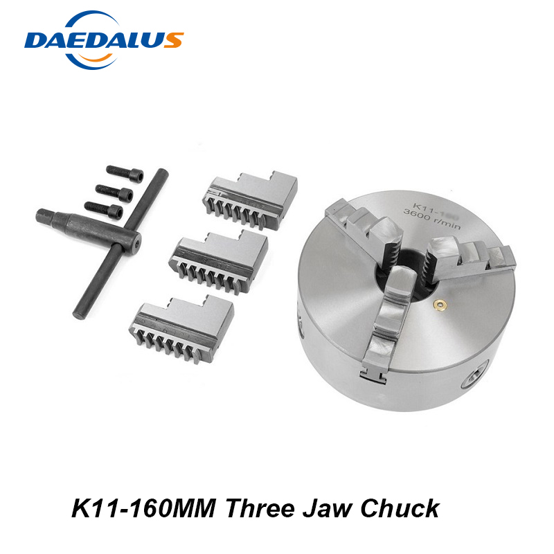 Mini Drill Chuck K11-160mm Self-Centering Manual Lathe Tool Three Jaw Chuck For CNC Drilling Milling Machine цена