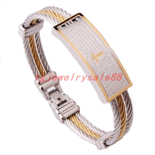 Hiphop Style Silver Gold Jewelry Cool Biker Mens Stainless Steel