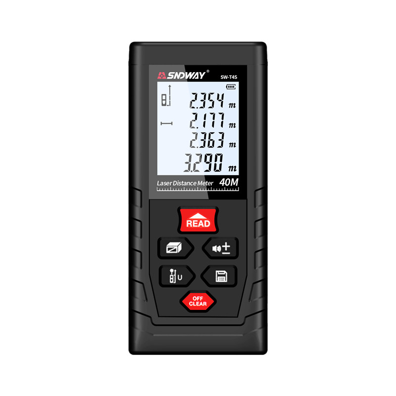 SNDWAY Laser Distance Meter 40-120M with LCD and Auto Power Off to Measure Wide Range Area 17