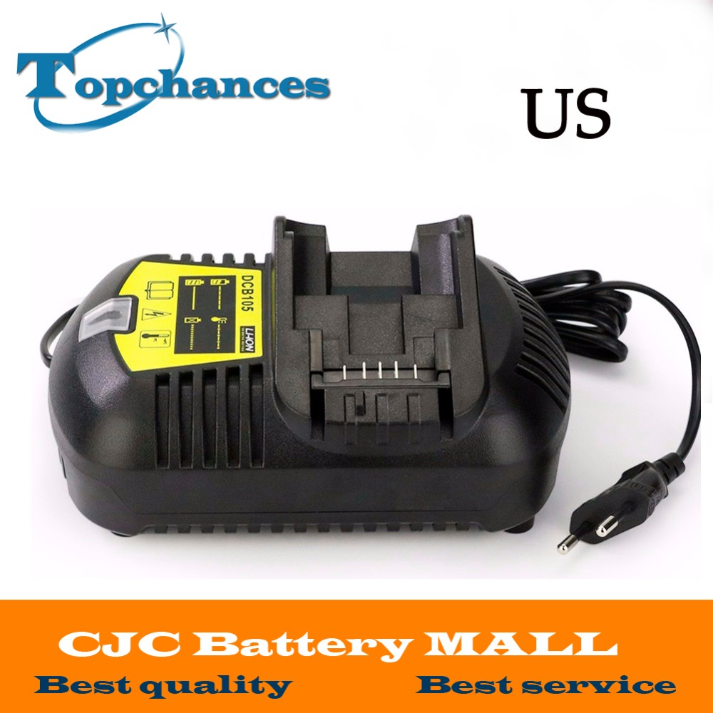 US Fast <font><b>Charger</b></font> For <font><b>Dewalt</b></font> 10.8V 12V 14.4V 20V MAX Li-ion <font><b>Battery</b></font> DCB105 DCB101 DCB120/DCB203/DCB200/DCB201/DCB204/DCB180