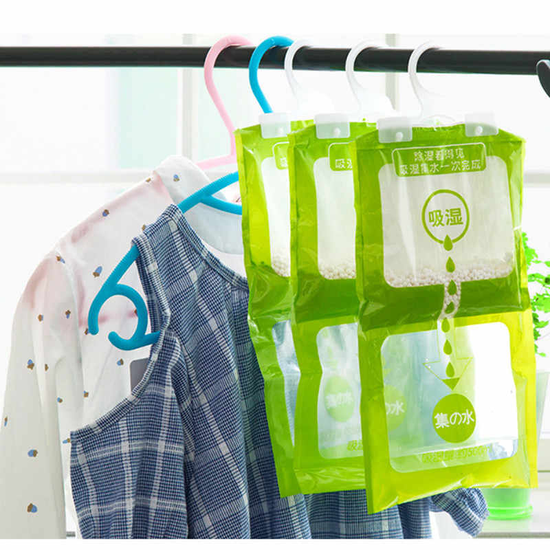 Wardrobe Absorbent Bag Family Use Hanging Drying Agent Dehumidifier Bags  Room Accessories  Household Drying Dehumidifier