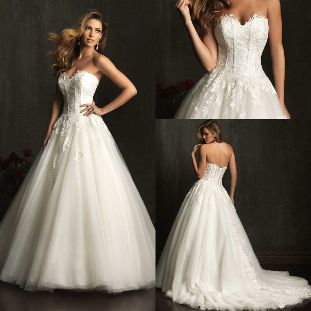 2015 New Arrival Hot Fashion\'s Most Beautiful White Wedding Dresses ...