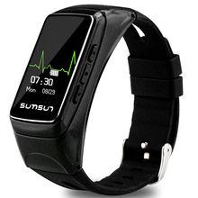 Potino Bluetooth Smart Band talkband B7 сердечного ритма Мониторы Смарт часы браслет Спорт Здоровье группа с плеера ответ на вызов