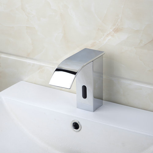 New Bathroom Automatic Hands Touch Free Sensor Faucets Hot & Cold Basin 89028 Chrome Brass Sink Mixer Tap Faucets,Mixers & Taps new bathroom automatic hands touch free sensor basin chrome brass sink mixer tap faucets mixer auto sensor faucet sf 08