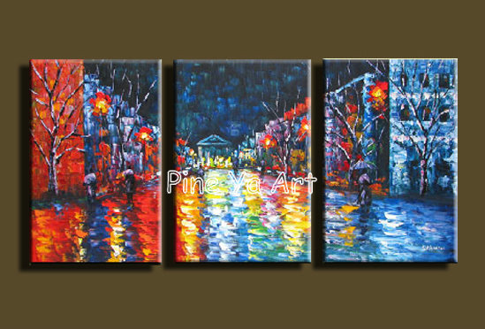 3 Muti panel abstract modern canvas wall decorative palette font b Knife b font oil painting