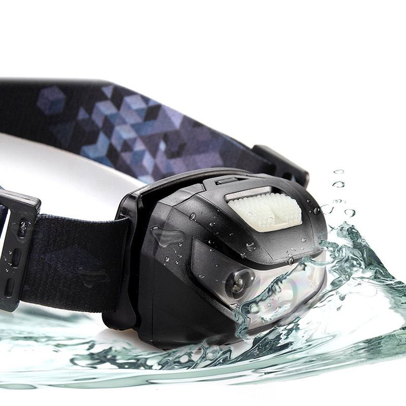 LED Headlamp can be worn in the rain